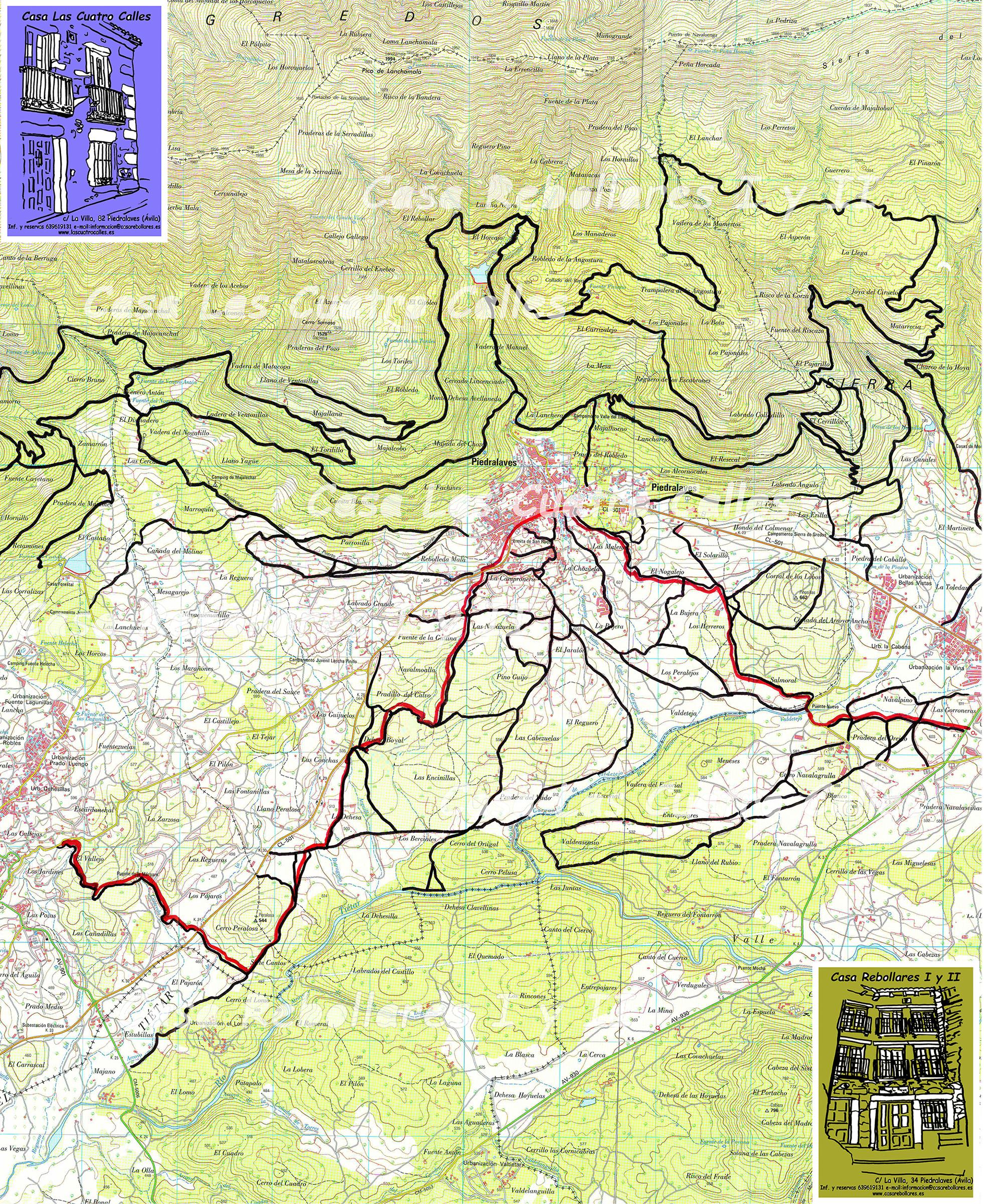 Casas rurales piedralaves callejero y mapas - Casa rural valle del tietar ...